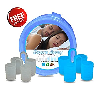Snoring Problems - Try SnoreAway Premium Nose Vents with 4 Nasal Dilator Snore Cone Solutions - Free Travel Case and Anti Snoring eBooklet 'Stop Snoring' - To Help Ease Snoring and Breathing Problems