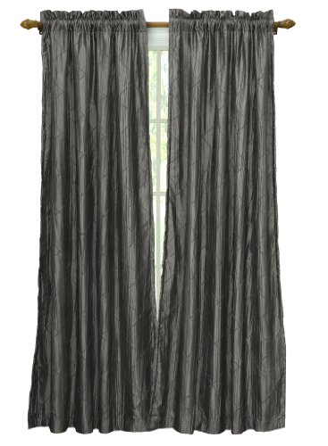 Victoria Classics Nathan Lined and Interlined Panel- 52-Inch By 84-Inch, Charcoal