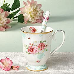 New Elegant Striped Pattern Design Porcelain Cups And Mugs High Quality Ceramic Mugs For Tea & Coffee Green 301-400ml