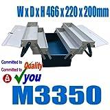 Metal Cantilever Tool Box 5 Tray Mechanics Plumbers Omega M3350