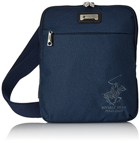 Beverly Hills Polo Club 5115852 Borsa Messenger, Poliestere, Blu marino, 27 cm