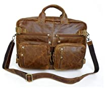 "Hot Sale ""Caracas"" Vintage Leather Men's Hybrid Backpack & Briefcase"