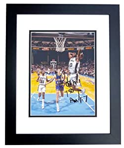 David Robinson Autographed Hand Signed San Antonio Spurs 8x10 Photo - BLACK CUSTOM... by Real Deal Memorabilia