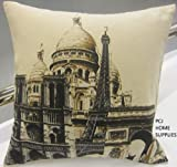 STUNNING COTTON PARIS FRANCE EIFFEL TOWER L ARC DE TRIOMPHE CUSHION COVER 18