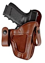 Bianchi 120 Covert Option Russet Size 12 Holster Fits Glock 17/22 (Left Hand)
