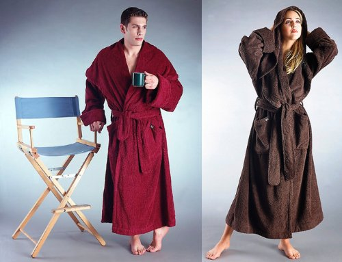Monk Luxury Style Hooded Full Length Heavy Turkish Terry Cotton Long Bathrobe - Made in Turkey with high quality Turkish Cotton- 5 Sizes up to 54