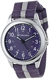 Columbia Unisex CA016510 Field Fox Purple Canvas Watch