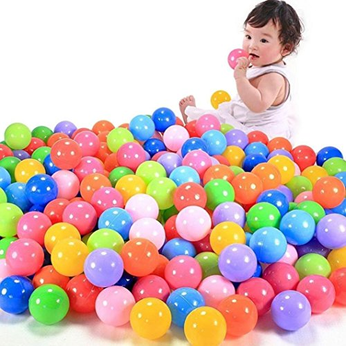 FEITONG 100pcs Colorful Ball Fun Ball Soft Plastic Ocean Ball Baby Kid Toy Swim Pit Toy (Target Baby Pack And Play compare prices)