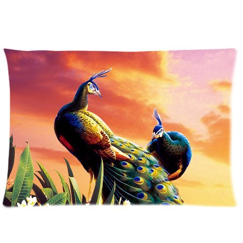 Peacock Print Bedding Set front-133025