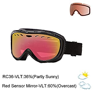 Smith Women's Cadence Snow Goggle - Black Danger (Old Version)