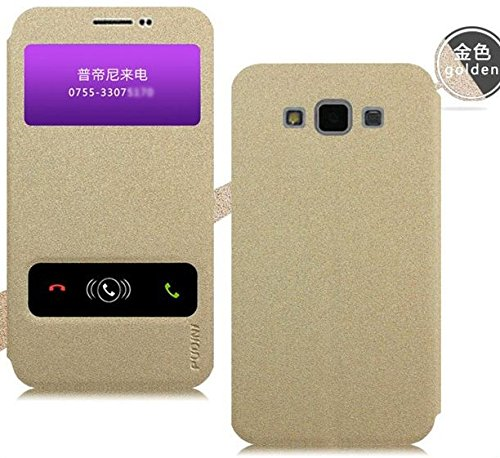Newtronics Golden Premium Luxury PU Leather Flip Cover Case With Stand Function For Samsung Galaxy Grand Max