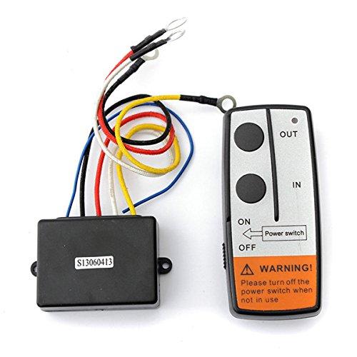 New-50ft-Wireless-Winch-Remote-Control-Kit-For-Jeep-ATV-SUV-UTV-12V-Switch-Handset-by-Bcn