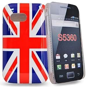 Accessory Master - Coque de protection arrière drapeau UK / d'Angleterre / motif Drapeau Anglais en stylus pour Samsung galaxy y s5360