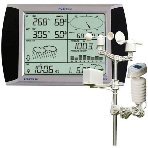PCE-FWS-20-Funkwetterstation-mit-Windgeschwindigkeit-und-richtung-Niederschlag-Feuchtigkeit-USB-Software-Touchscreen