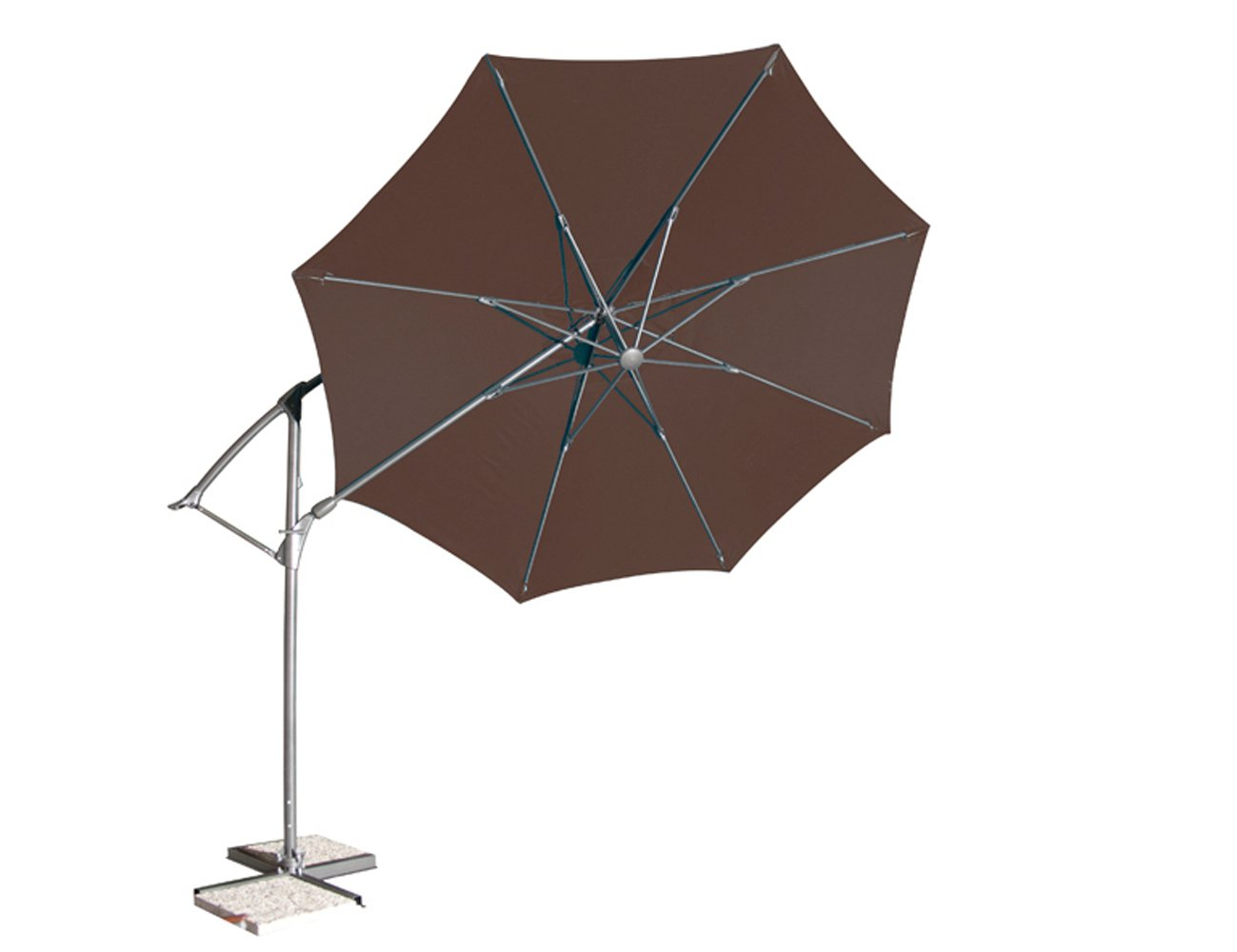 Siena Garden 673248 Catania Ampelschirm Bezug mocca Gestell champagner Ø 330 cm günstig online kaufen