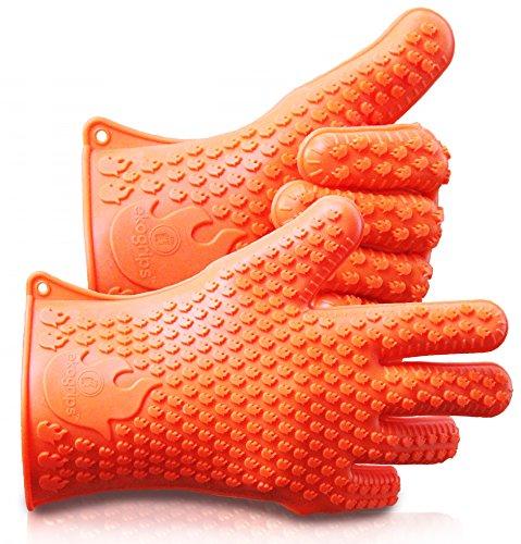 耐熱バーベキュー用シリコン製手袋 - エコグリップのオリジナル サイズ調節可能 (インポート)