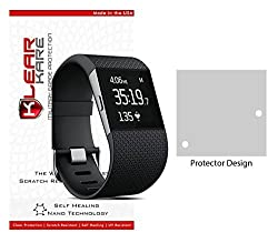 KlearKare Invisible Screen Shield Protector for Fitbit Surge | (HD) Clear | Self Healing Nano Technology | Bubble Free - Lifetime Warranty