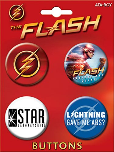 Ata-Boy The Flash on CW Assortment #2 4 Button Set - 1