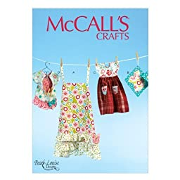 McCall Pattern Company M6769 Apron, Potholders, Towel and Clothespin Bag Sewing Template, One Size Only (All Sizes in One Envelope) by McCall Pattern Company
