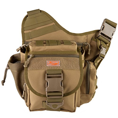 Cyber-Monday-SalePiscifun-Multi-Pockets-Single-Shoulder-Bag-Nylon-Fishing-Tackle-Bag-Crossbody-Message-Sling-Bags