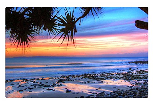 irocket-indoor-floor-rug-mat-sunset-on-beach-in-noosa-np-australia-236-x-157-inches