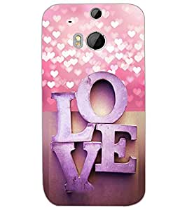 HTC ONE M8 EYE LOVE Back Cover by PRINTSWAG