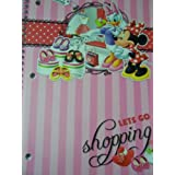 "Disney Minnie Mouse Bow-tique Wide Ruled Spiral Notebook ~ Lets Go Shopping! (8"" X 10.5""; 70 Sheets,"