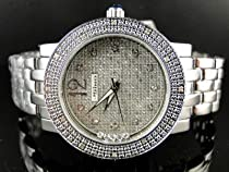 New Ladies Jojino Silver Metal Genuine Real Diamond Watch MJ-1046C
