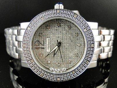 New Ladies Jojino Silver Metal Genuine Real Diamond Watch MJ-1046C