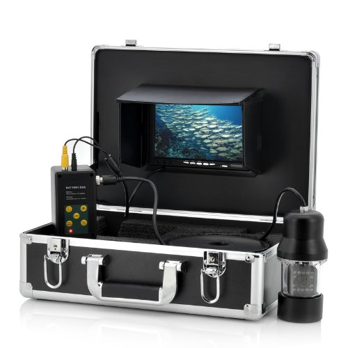 Anysun 1/3 Inch SONY CCD Underwater Fishing Camera – 360 Degree View, Remote Control, 7 Inch LCD Monitor, 14x White Lights