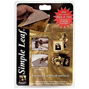 Speedball Mona Lisa Gold Simple Leaf, 18 Sheet Pack