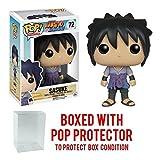 Funko Pop! Anime: Naruto Shippuden - Sasuke #72 Vinyl Figure (Bundled with Pop BOX PROTECTOR CASE) (Tamaño: 3.75 inches)