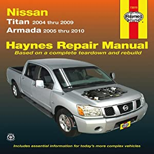 haynes repair manual nissan titan models 2004 2009 and. Black Bedroom Furniture Sets. Home Design Ideas