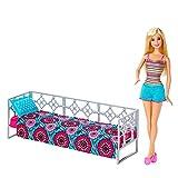 Barbie - Muebles de Dormitorio - Cama con la Muñeca