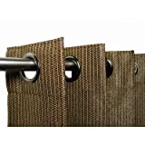 Coolaroo Outdoor Curtain, 50 by 84-Inch, Mocha