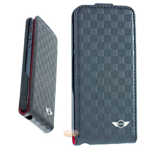 mini-cooper-mnflp5sqbl-leder-flip-case-fur-apple-iphone-5-checkered-schwarz