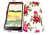 Designer Red Rose Shabby Chic Vintage Htc One X Tpu soft gel case/cover