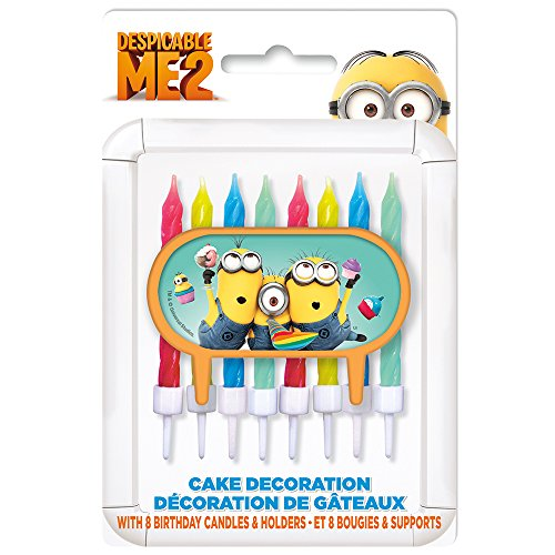 Despicable Me Cake Topper & Birthday Candle Set - 1