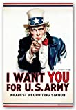 "Uncle Sam - I Want You by Anonymous 24""x36"" Art Print Poster"