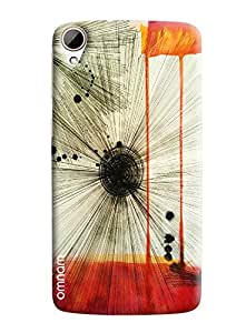 Omnam Feather Stripes Art Printed Designer Back Cover Case For HTC Desire 828