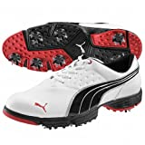 Puma Mens Amp Sport Golf Shoes 8 1/2 Us Medium White/Black/Red