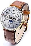 [ツェッペリン]ZEPPELIN ブランド腕時計 ドイツ製 スイスクォーツムーブメント(RONDA)  カレンダー ムーンフェイズ LZ129 Hindenburgシリーズ 7039-1 [並行輸入品]