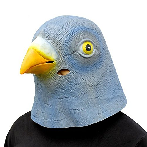 XIAOMOGU Pigeon Deluxe Novelty Halloween Costume Party Latex Animal Head Mask