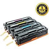 GlobalToner Compatible Toner Cartridge CE320A CE321A CE322A CE323A (128A) for HP Laserjet CP1525nw, Pro CM1415, 4 Pack (Black Cyan Magenta Yellow)
