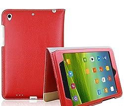 SPL Premium PU Leather Smart Book Stand Cover for Xiaomi Mi Pad (7.9 inch) -Red