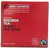 Equal Exchange Organic Rooibos 100 Teabags (Pack of 2, Total 200 Teabags)