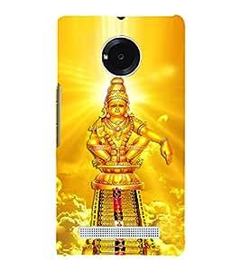 Lord Ayyappa 3D Hard Polycarbonate Designer Back Case Cover for YU Yureka Plus