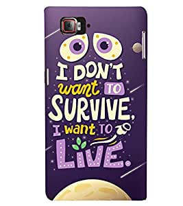 Printvisa Life Quote On A Move Background Back Case Cover for Lenovo Vibe Z2 Pro K920