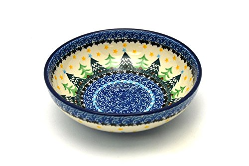 Polish Pottery Bowl - Pasta - Christmas Trees Polish Pottery Christmas Tree