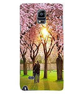 ColourCraft Lovely Couple Design Back Case Cover for SAMSUNG GALAXY NOTE 4